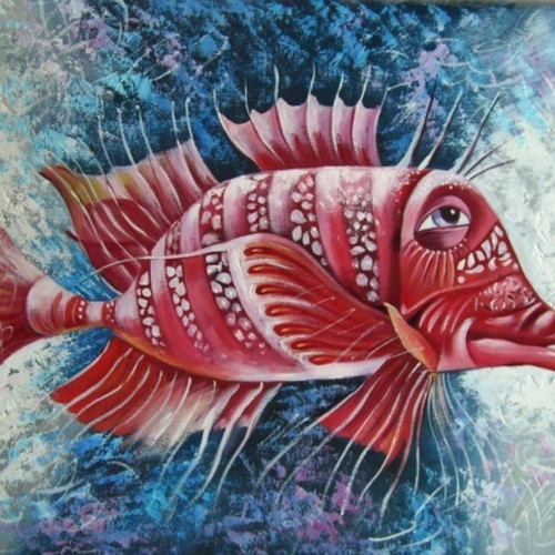Красная чудо-рыба 108