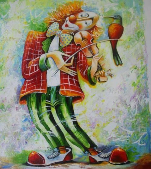 Музицирующий клоун 120