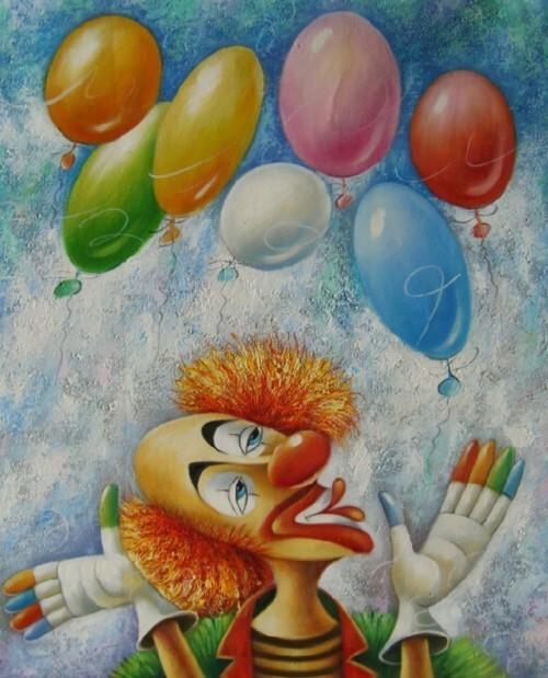 Клоун и воздушные шары 122