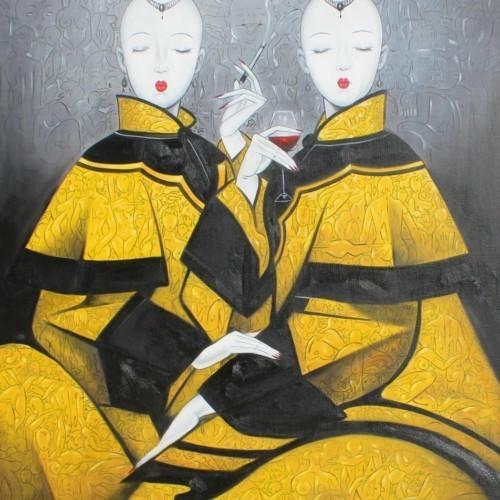 Две девушки в желтом 149