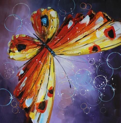 Оранжевая бабочка 154