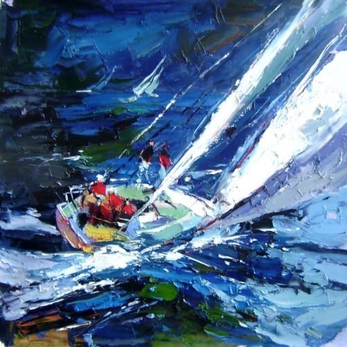 Парусник в синем море 167