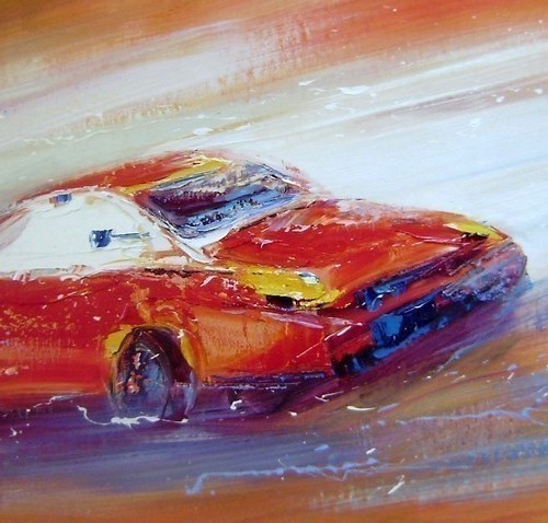 Красная спортивная машина 174