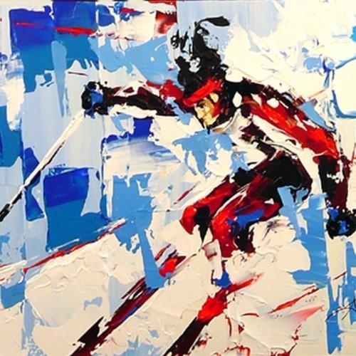 Лыжник на дистанции 184