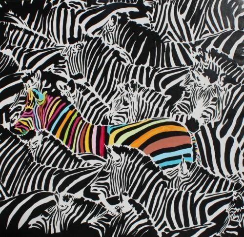 Цветная зебра 200