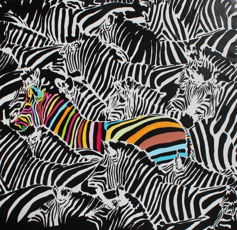 картинки зебра цветная