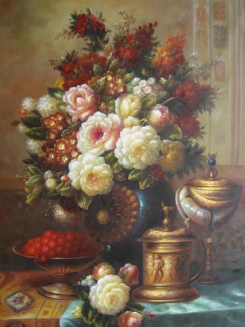 Натюрморт с цветами и ягодами 230