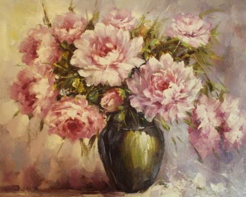Композиция из розовых пионов 263