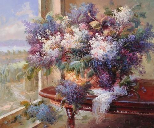 Натюрморт цветов на столе 273
