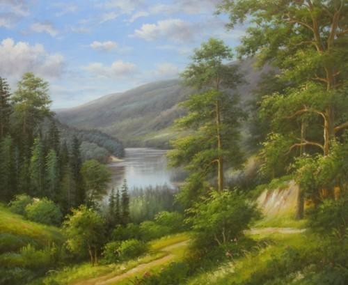 Озеро в горах 439