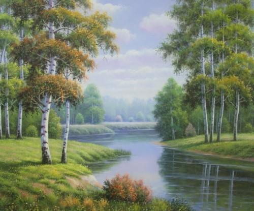 Речной пейзаж 443