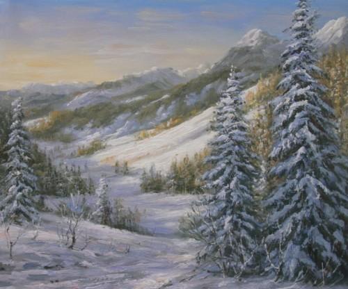 В горах зимой 445