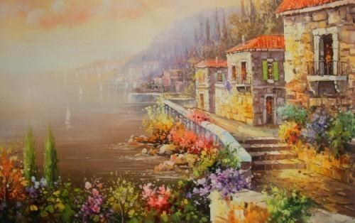 Цветущий город у моря 535