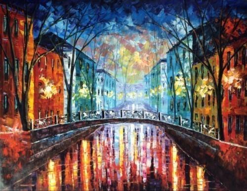 Ночной вид на мост 557