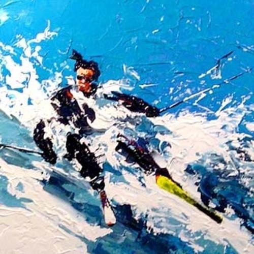 Лыжник в черном 569