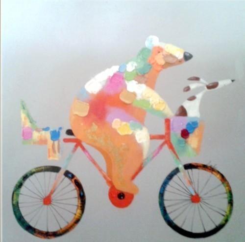 Медведь на велосипеде 593