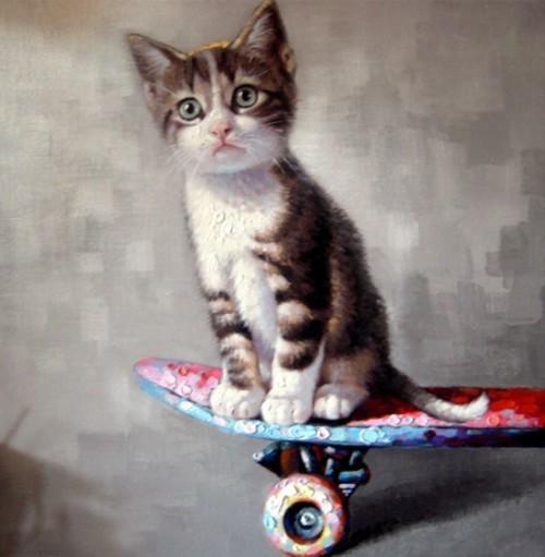Котенок на скейте 604