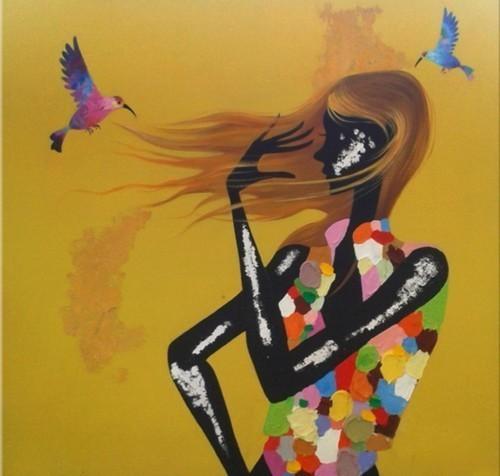 Девушка и колибри 614