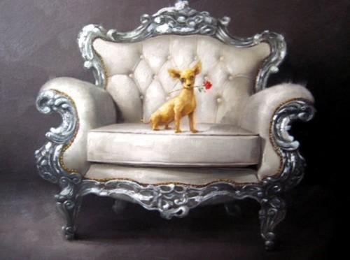 Собачка на кресле 616