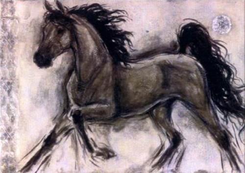 Лошадь в движении 634