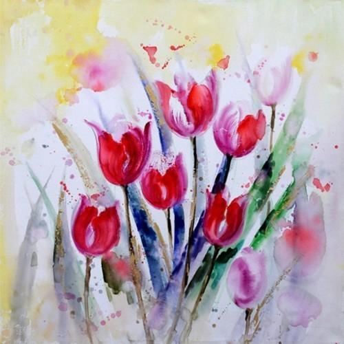 Красные тюльпаны 676