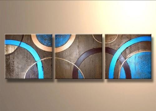 Триптих Разноцветные круги 686