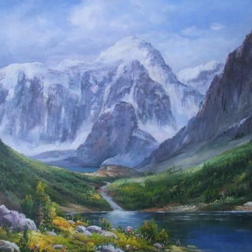 Горное озеро 732