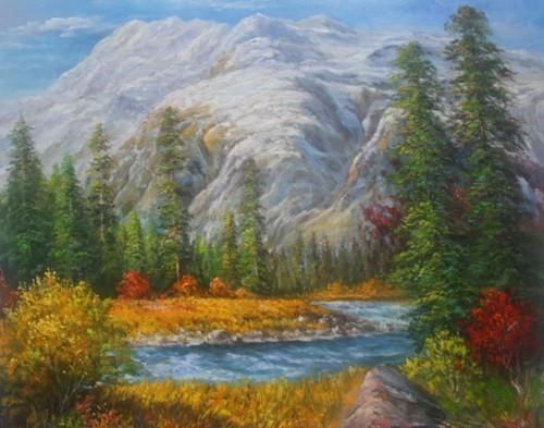 Горный пейзаж Красной Поляны. 790
