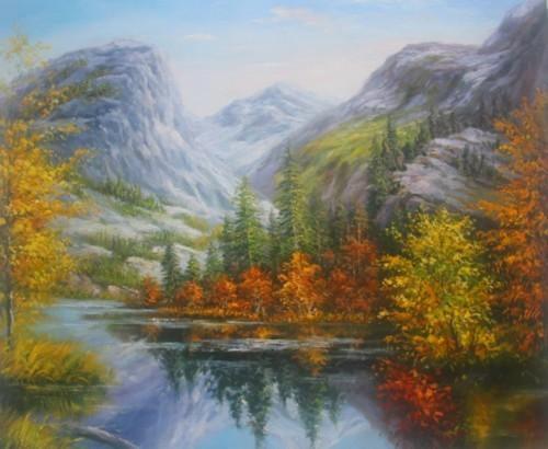 Горный пейзаж Красной Поляны. 792